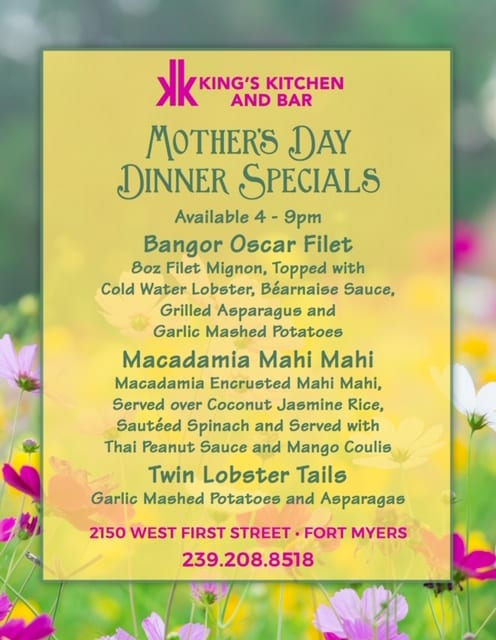 Mother's Day Dinner Specials